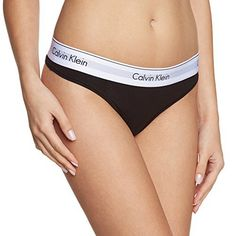 Calvin Klein Underwear Modern Cotton – Thong – Culotte – Uni – Femme – Noir (black 001) – Taille: S: Tweet Caleçon-string Calvin Klein.…