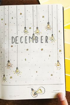 Bullet Journal School, December Bullet Journal, Bullet Journal Cover Ideas, Bullet Journal Lettering Ideas, Bullet Journal Banner, Bullet Journal Notebook, Bullet Journal Layout, Journal Covers, Bullet Journal Inspiration