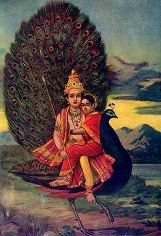 Skanda, the elegant war-god son of Shiva Indiana, Lord Murugan Wallpapers, Lord Shiva Family, Tanjore Painting, Om Namah Shivaya, Hindu Deities, God Pictures, Hindu Art, Indian Gods