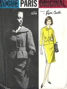 This is a Pierre Cardin suit pattern from the 60's.