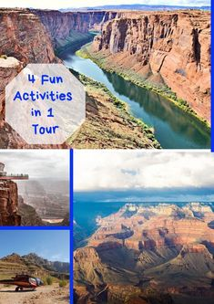 Four fun filled activities to discover the Grand Canyon like never before. Fly to the Grand Canyon from Las Vegas in a helicopter, then cruise down River Colorado, Explore the West Rim and choose the optional Skywalk if you like! Grand Canyon Helicopter Tour, Grand Canyon Tours, Day Trip, Fun Activities, Las Vegas, Colorado, Cruise, Action, River