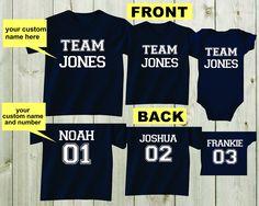 Set of 3 Shirts Custom Shirts Sibling Shirts Personalized T-shirts Team Sports Shirts Family Shirts Toddler Shirts Baby Shower Gifts Boy by mkclassyprints on Etsy