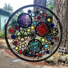 Bicycle Art  Greg LeMond Stained Glass And by VeloGioielli on Etsy, $950.00
