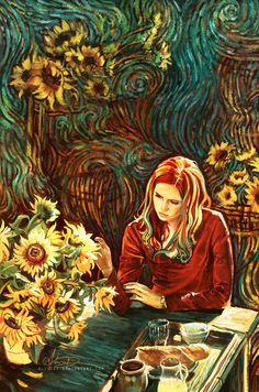 Amy Pond Van Gogh painting Doctor Who Doctor Who Art, Décimo Doctor, Eleventh Doctor, Fanart, Digital Painter, Vincent Willem Van Gogh, Alice, Hello Sweetie, Illustrations