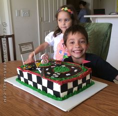 Coolest Race Car Track Birthday Cake... Coolest Birthday Cake Ideas