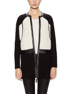 Faux Shearling Combo Sweater Coat  from Fall Trend #7: Statement Coats on Gilt