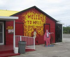 The town of Hell, Grand Cayman, has a fiery red gift shop, among other tourist attractions. Photo courtesy of Max Schoenfeld/Wikimedia.