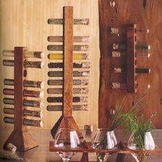 Acacia wood test tube spice rack... Gorg!