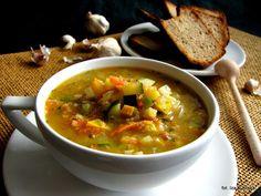 супа с леща и чесън