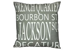 New Orleans 20x20 Pillow, Gray on OneKingsLane.com
