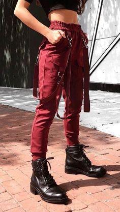 High Waist Cargo Pants with Belts High Waist Cargo Pants with Belts,Outfits High Waist Cargo Pants with Belts Related posts:Mode été 2019 - Casual outfitsReduzierte Low Sneaker für Herren - Jean shortsKnusprige Kichererbsen-Nuggets aus. Edgy Outfits, Mode Outfits, Grunge Outfits, Office Outfits, Summer Outfits, Girl Outfits, Fashion Outfits, Fashion Boots, Dress Fashion