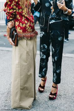 pajama dressing, Anna Dello Russo and Sarah Ruston, Milan Fashion Week, Spring-Summer 2016