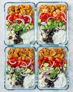 Chicken Meal Prep Bowls for Clean Eating Clean Eating Greek Chicken Meal Prep Bowls! - Clean Food CrushClean Clean may refer to: Healthy Meal Prep, Healthy Dinner Recipes, Diet Recipes, Healthy Snacks, Clean Eating Recipes, Clean Eating Snacks, Healthy Eating, Eating Habits, Clean Food Diet