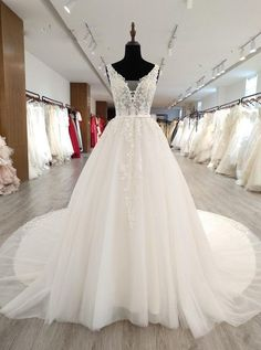 Gorgeous Wedding Dresses with Appliques,White Wedding Dress with Long Train, Princess Wedding Dresse Western Wedding Dresses, Wedding Dress Train, Wedding Dress Chiffon, Gorgeous Wedding Dress, Glamorous Wedding, Princess Wedding Dresses, Long Wedding Dresses, Bridal Dresses, Wedding Gowns