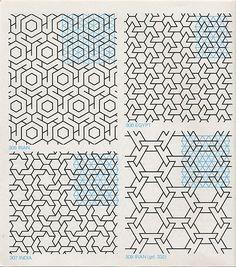 Lots of Tile Patterns Geometric Patterns, Graphic Patterns, Geometric Designs, Tile Patterns, Pattern Art, Abstract Pattern, Textures Patterns, Geometric Shapes, Tessellation Patterns