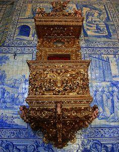 Púlpito de la iglesia de Nossa Senhora do Terço de Barcelos (Portugal)