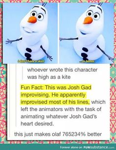 Fun fact about olaf