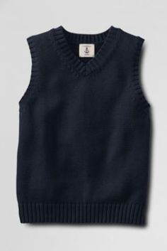 7edab09bc60 School Uniform Kids  Drifter Sweater Vest from Lands  End