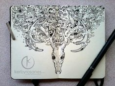 Moleskine Doodles 2013 by Kerby Rosanes, via Behance