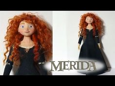 Merida (Brave) Inspired Poseable Doll - Polymer Clay Tutorial - YouTube