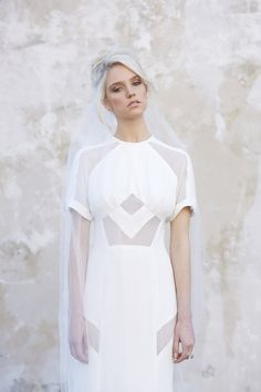 Geometric wedding dress by Georgia Young Couture | Melbourne bridal designer