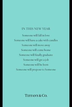 In This New Year - by Tiffany & Co.