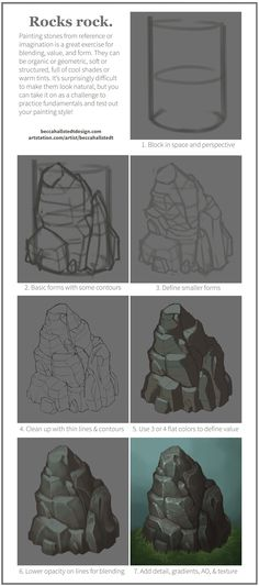 Ideas For Digital Art Tutorial Landscape Design Reference Digital Painting Tutorials, Digital Art Tutorial, Art Tutorials, Landscape Drawing Tutorial, Landscape Drawings, Landscape Art, Landscape Design, Landscapes, Environment Painting