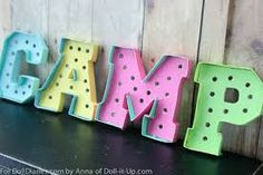Kit's here to share a new sign in the camp lodge.It is a fun vintage style marquee sign. Marquee Letters, New Sign, I Fall In Love, My Room, Christmas Lights, Lettering, Signs, Fun, Colors