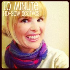 10 minute, no sew, non crochet, non knit circle scarf with Amazing yarn