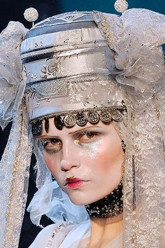 Galliano's Frozen Ukrainian Brides  Make up: Pat McGrath