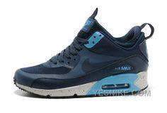 quality design 8147b 39023 http   www.airgriffeymax.com soldes-toutes-sortes-de-styles-femme-nike-air- max-90-mid-winter-no-sew-sneakerboot-ns-noir-sombre-grise-rose-vente-dis…
