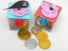 20 Caixinhas Acrílicas George Pig Pirata Cabeças-Cortes para Montar  www.petilola.com.br