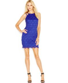 Guess Scallop-Fringe Bodycon Dress for Megan