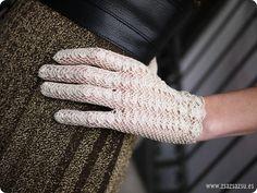 Guantes crochet vintage