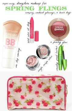 splendid actually: easy drugstore makeup for spring weekends Beauty Balm, Diy Beauty, Beauty Skin, Beauty Makeup, Beauty Hacks, Health And Beauty, Beauty Dupes, Elf Makeup, Candy Makeup
