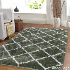 Affinity Home Trellis Cozy Shag Rug (3' x 5') (