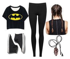 """Batman"" by shadow-lullaby on Polyvore featuring Keds and Vince"