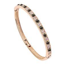 Alloy bracelet with Swarovski crystals.  (vad6459)
