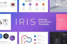 Neue minimal powerpoint template by slidepro on creativemarket iris minimal powerpoint template toneelgroepblik Image collections