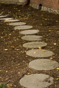 How to Make a Stepping Stone With Cement
