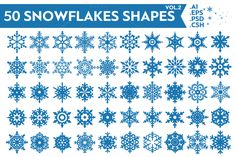 Check out Snowflakes Vector Shapes Vol.2 by pixaroma on Creative Market