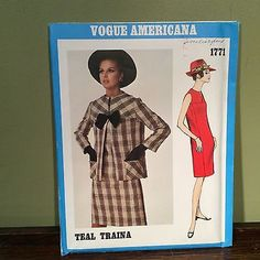 Vtg VOGUE AMERICANA Dress & Jacket  #1771 by Designer TEAL TRAINA 18 UNCUT