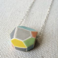 gem necklace bright  porcelain jewelry by Sofia by sofiamasri, $78.00