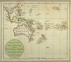 Early Australia map - late 1700s? (Botany Bay was named 1770).