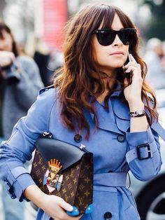 213604f953a Miroslava Duma wears a blue trench coat