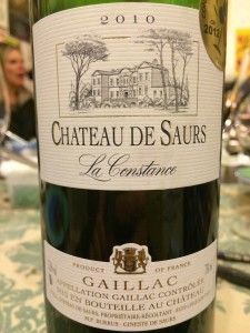 The wonderful Chateau de Saurs Gaillac Rouge matched with Conscious Framer organic grass fed beef casserole.