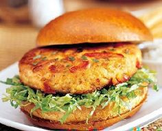 Healthy Crab Cake Burgers - These rock! They taste incredible. You can make them in less than 20 minutes. And they're healthy. #lent