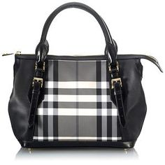 Burberry Checked Medium Tote... I don't usually even like Burberry because all the Checked stuff gives me a headache, but this is freaking presh!
