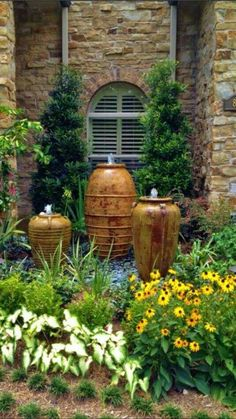 Garden fountains.