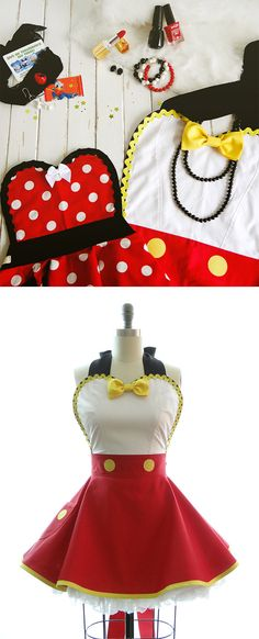 Hey, I found this really awesome Etsy listing at https://www.etsy.com/listing/237428396/retro-apron-ms-mouse-womans-aprons